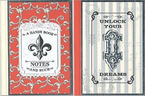 Unlock Your Dreams Mini Journal & A Handy Book Mini Notebook - Package of 2