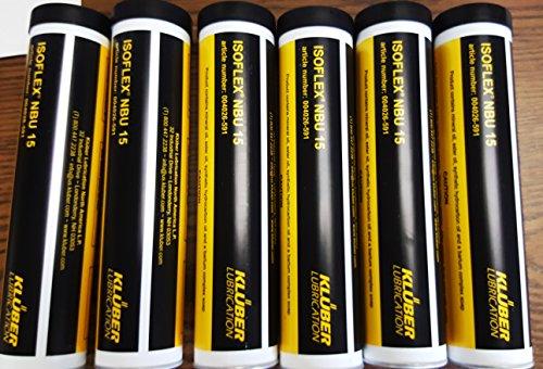 Kluber Isoflex NBU 15 High Speed Bearing Grease 6x400g Cartridge. Box of - Box 400g