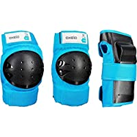 Oxelo Basic Children's 3-Piece Protective Gear for Skates/Skateboard/Scooter - Blue
