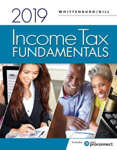 Income Tax Fundamentals 2019 (with Intuit ProConnect Tax Online 2018) by Cengage Learning