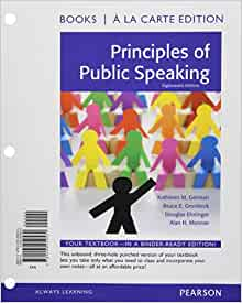 principles of public speaking books a la carte plus new mycommunicationlab with. Black Bedroom Furniture Sets. Home Design Ideas