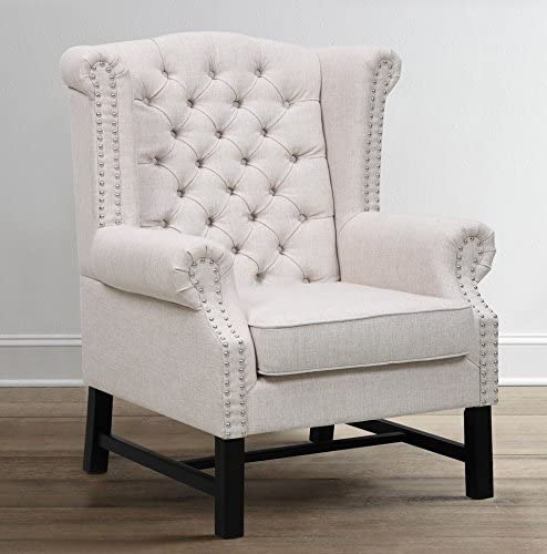 Tov Furniture Fairfield Linen Club Chair, Beige