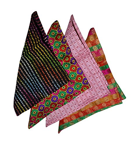 Ana'z Pocket Square Set of 4 Multicolor Handkerchief Men's Fashion Accessory by Ana'z (Image #5)