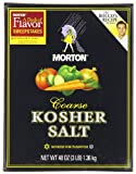 Morton Kosher Salt-Coarse, 3-Pounds (Pack of 12)