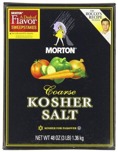 Morton Kosher Salt-Coarse, 3-Pounds (Pack of 12) by Morton
