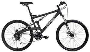 2018 Gravity FSX 2.0 Dual Full Suspension Mountain Bike Shimano Acera Suntour (Matt Black with Black Wheels, 19inch)