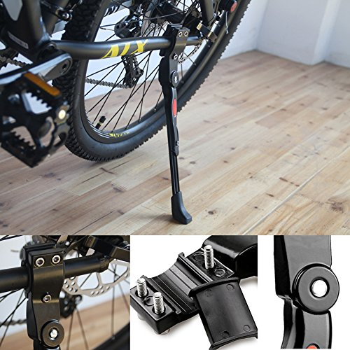 "WeYingLe Bike Bicycle Kickstand+2X Hexagon Wrenches Help Install Easily Adjustable Aluminium Alloy Rear Mount Side Stand Fit For 22"" 24"" 26"" Tire Cycling Mountain Road Bike 700c Bicycle"