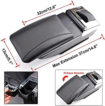 For Honda Fit Jazz 2008-2011 Car Center Console Armrest Storage Box Accessories With Cup Holder And Removable Ashtra Beige