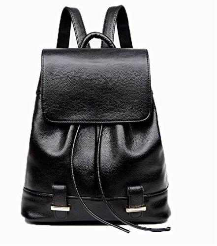 Pu VogueZone009 Sacs à Décontractée dos Daypack Zippers Noir Cuir Femme RpOpfg