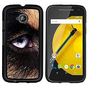 LECELL--Funda protectora / Cubierta / Piel For Motorola Moto E2 E2nd Gen -- Perro de pastor alemán Perro Lobo --
