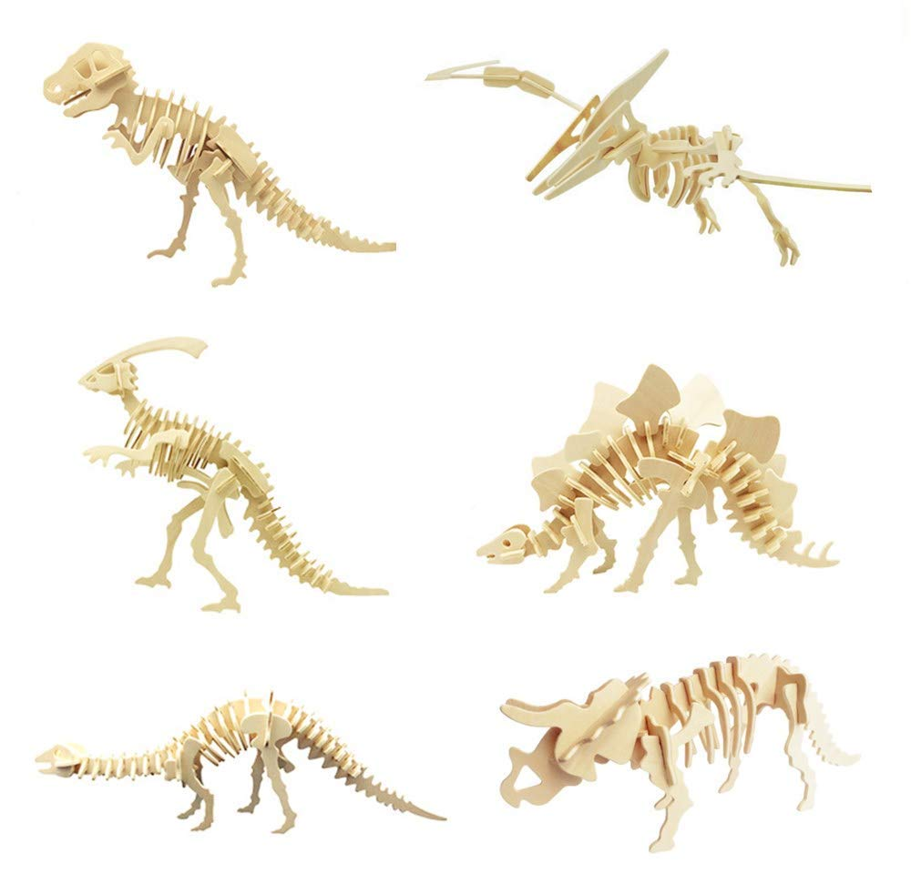 Cherish 3D木製パズル Tea 6ピースセット 3D木製パズル B07MZYCYSH シミュレーション動物恐竜アセンブリ Cherish DIYモデルおもちゃ 子供と大人用 B07MZYCYSH, 津屋崎町:ae679d2e --- m2cweb.com
