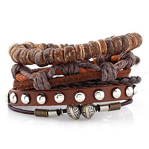 Soleebee-Unisex-Punk-Retro-PU-Leather-Hemp-Cords-Multi-Stands-Wristband-with-Beads-Pure-Handmade-Bracelet