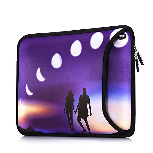 Sancyacc Laptop Sleeve, Water-Resistant Sleeve Bag Cover 13-13.3 Inch, Neoprene Laptop Bag Case, Full Protective Carrying Notebook Pocket for MacBook Air/Pro (Lunar)