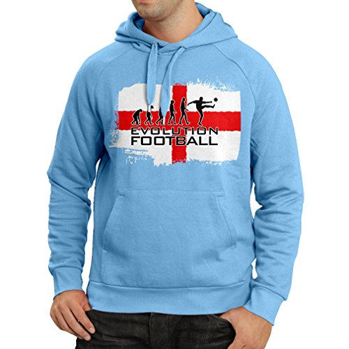 fan products of N4456H Hoodie The Evolution of football - England (Medium Blue Multicolor)