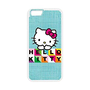 Hello Kitty Blue Pattern iPhone 6 4.7 Inch Cell Phone Case White Pretty Present zhm004_5007683
