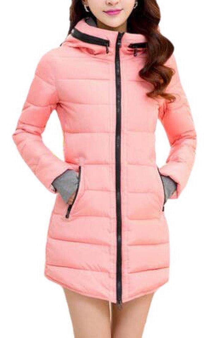 FLCH+YIGE Mens Fleece Winter Faux-Fur Collar Hood Quilted Down Jacket Coat
