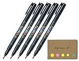 Tombow Fudenosuke Brush Pen, Soft Tip, Black Body, Sticky Notes Value Set