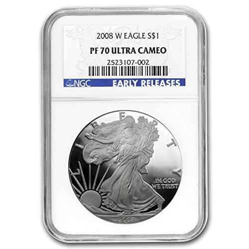 2008 W Proof Silver American Eagle PF-70 NGC (ER) Silver PR-70 NGC