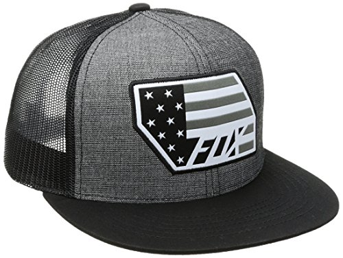 Fox Men's Red, White and True Snapback Hat, Black, One Size (Fox Hat Snapback)
