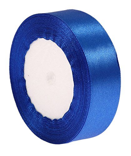 c-pioneer-25yards-125mm-ribbon-wedding-party-craft-satin-diy-hair-bow-sapphire-blue