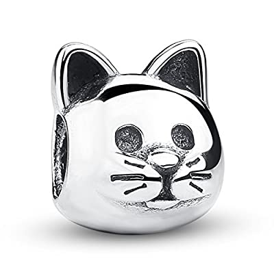 Cheap The Curious Cat Love My Cat Pet Lover 925 Sterling Silver Bead Fits European Charm Bracelet hot sale