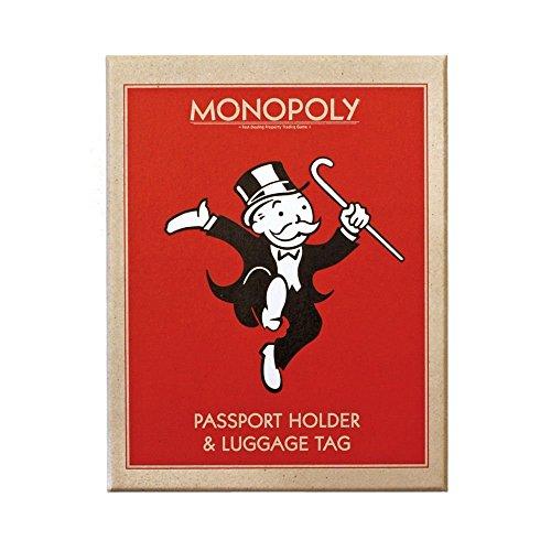 Monopoly–Custodia per passaporto e targhetta bagaglio set Con El Envío Libre Paypal aZVma