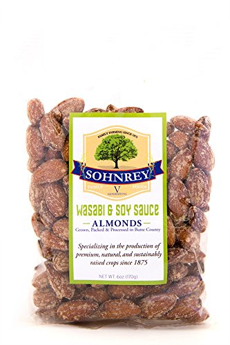 (Bold Wasabi & Soy Sauce Flavored Snack Almonds - Sohnrey Family Foods (6 oz))