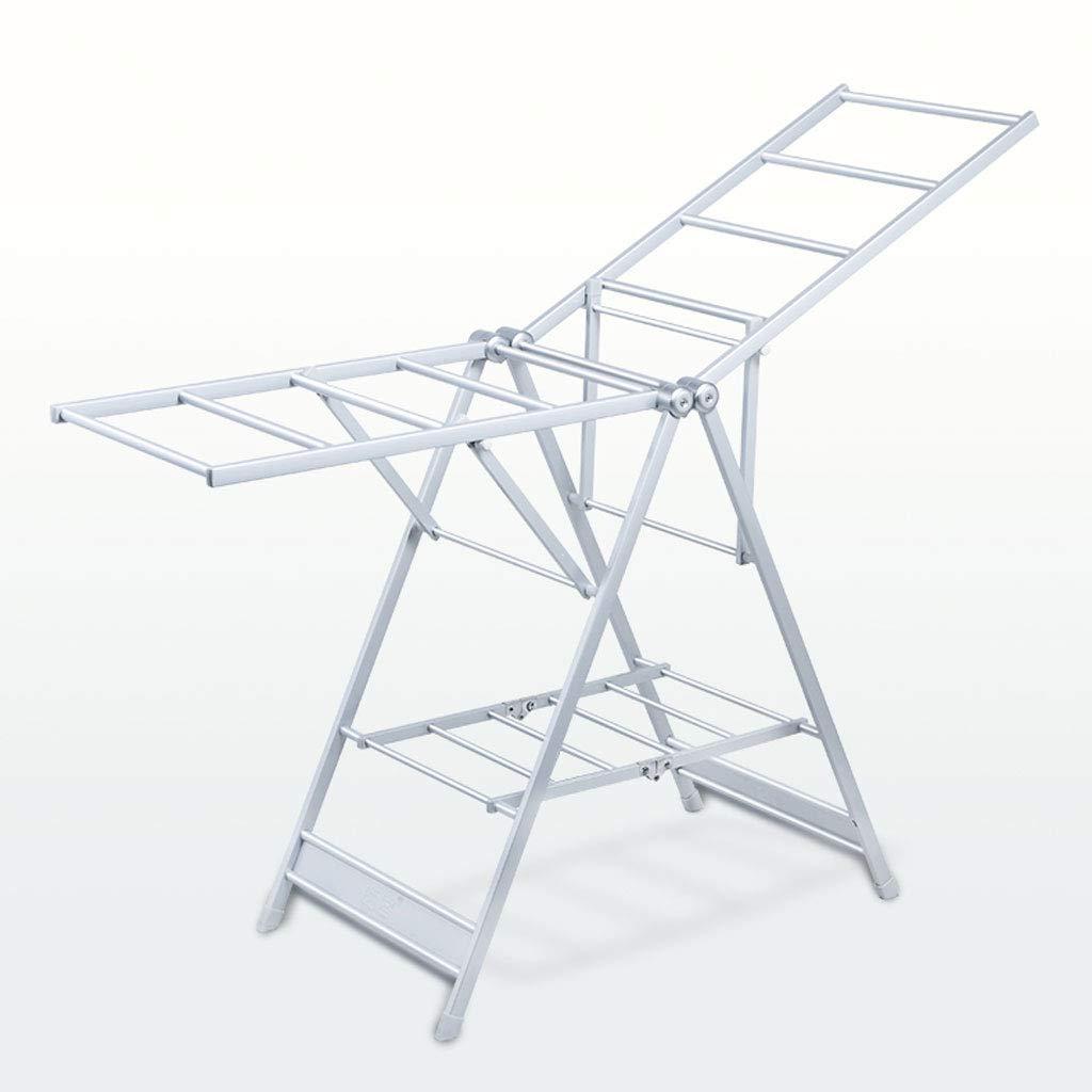 ZXW 乾燥ラック- アルミ合金の簡単な折り畳み式乾燥ラック、屋内の家庭のバルコニー風防フレーム (色 : シルバー しるば゜, サイズ さいず : 87x154cm) B07KPNMND4 シルバー しるば゜ 87x154cm