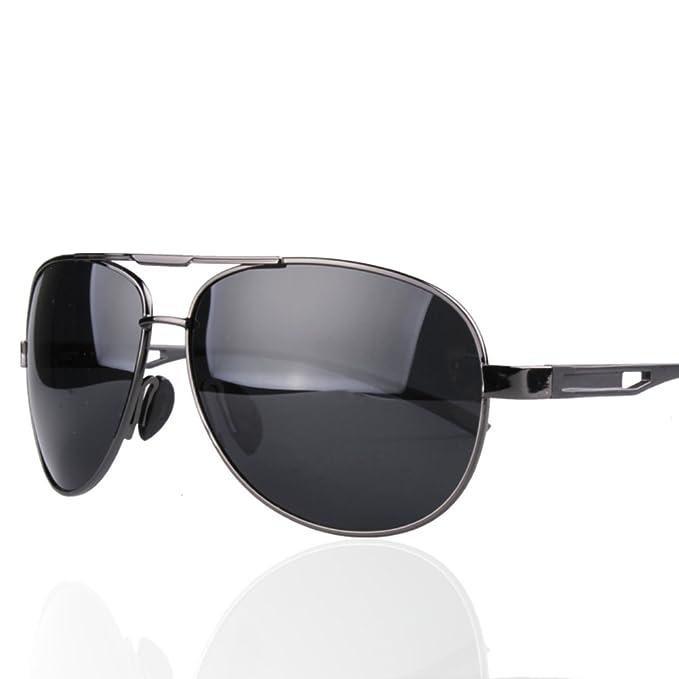 gafas de sol de los hombres/gafas polarizadas/Espejo de rana/Conducción de espejos-A: Amazon.es: Ropa y accesorios