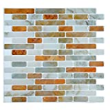 "Fertel 6-Piece Stick on Backsplash Tile, 10"" X 10"" Peel and Stick Tile"