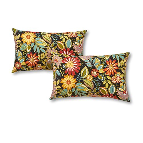 Greendale Home Fashions Rectangle Outdoor Accent Pillow (set of 2), Jungle by Greendale Home Fashions