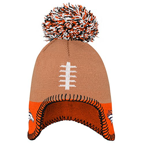 Outerstuff NFL Denver Broncos Infant Football Head Knit Hat Orange, Infant One -
