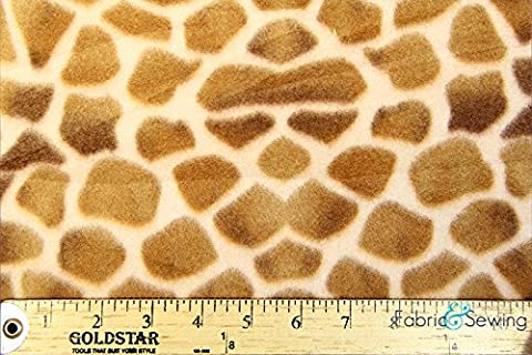 Gentle Giant Giraffe Light Anti-Pill Polar Fleece - Plush Fabric Polyester 13 Oz 58-60