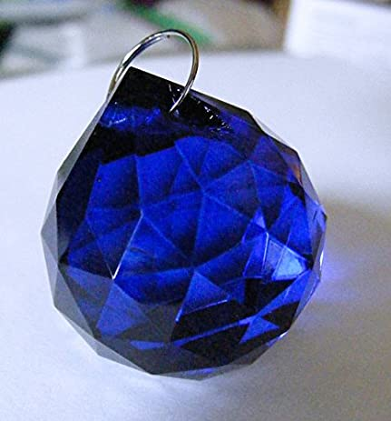 30mm chandelier crystal dark cobalt blue faceted ball prism feng shui 30mm chandelier crystal dark cobalt blue faceted ball prism feng shui aloadofball Choice Image