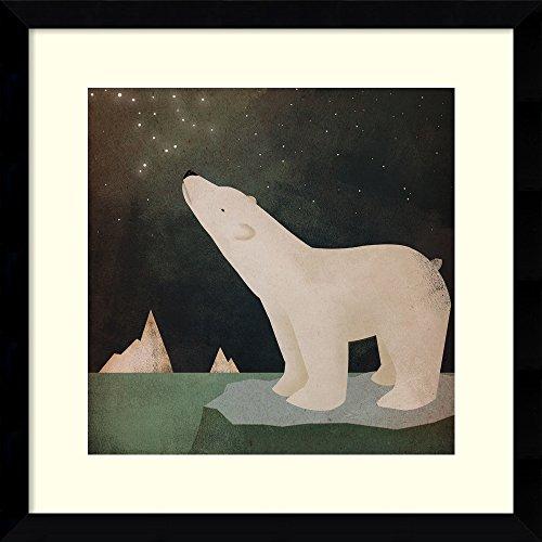 Amanti Art Framed Art Print 'Constellations Polar Bear' by Ryan Fowler: Outer Size x 17