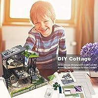 vividesire DIY Dollhouse Kit 3D Play House Dollhouse Miniature Assembly Toy Dollhouse for Kid Children Handy