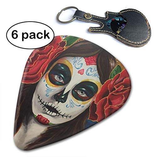 - Catrina Skull Beauty Mexico Sugar Picks For Bass Electric Acoustic Guitars 6 Pack.71mm