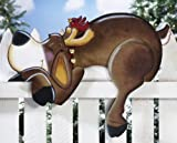 Snoozin' Reindeer Outdoor Holiday Fence Topper By Collections Etc
