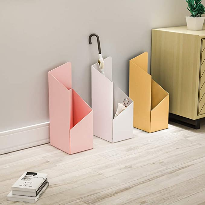 Umbrella Portaombrelli Portaombrelli in Metallo Moderno con Design a 2 Scomparti per la Decorazione Della Porta DIngresso Del Corridoio DIngresso,Bianca