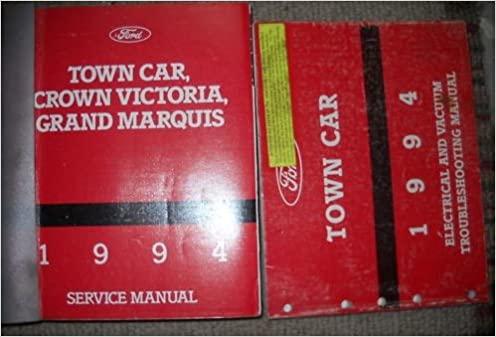 1994 lincoln town car service shop repair manual set 94 (service manual and  the wiring diagrams manual ) (service manual and the wiring diagrams manual