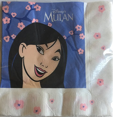 Disney MULAN Lunch Napkins - 16 Count 3-Ply Made in USA ()