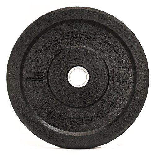 Crumb Bumper Plate Pairs by Diamond Pro - Recycled Rubber Bumper Plates - Pairs Plates for Fitness Gym Exercised (10)