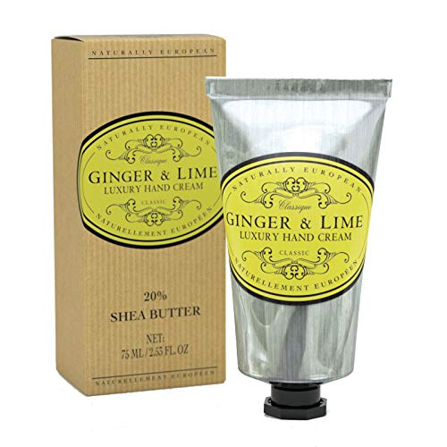 Naturally European Ginger and Lime Luxury Hand and Nail Cream, Perfect for Dry and Damaged Skin ()
