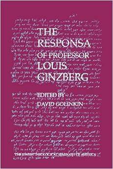 Book The Responsa of Professor Louis Ginzberg