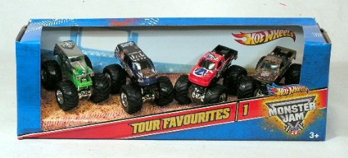 Monster Jam Tour Favorites - 1, Set of 4 Collectible Trucks