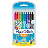 Paper Mate InkJoy Mini Retractable Ballpoint Pens, Medium Point, Assorted, 10 Pack (1951383)