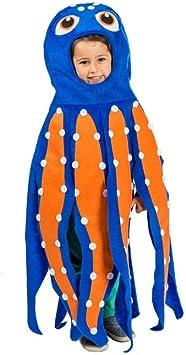 Nines dOnil Disfraz de Pulpo Azul y Naranja para Niño: Amazon.es ...