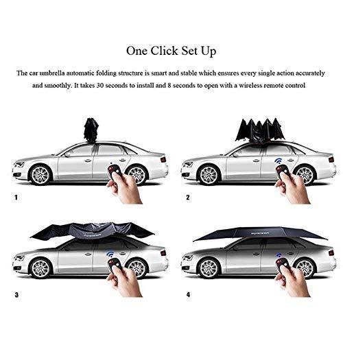 EGECL Sedan Car Cover - Waterproof Dust Sun UV Car Umbrella Sun Awning - Four-Season Car Awning Roof Cover - Universal - 450X230cm by EGECL (Image #6)