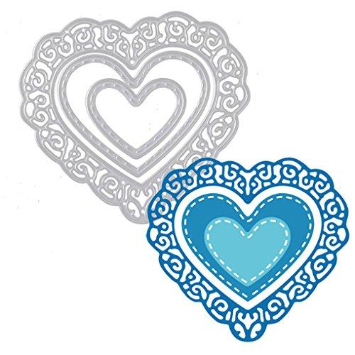 Framelits Die,Tosangn DIY Love Print Dies Stencil Card Craft Gifts Shower Love To your (Die Cut Valentine Card)