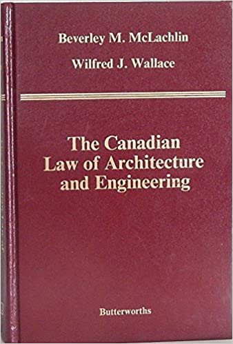 The Canadian law of architecture and engineering